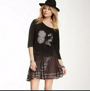 New Free People Annabel Lee ruffle mini skirt